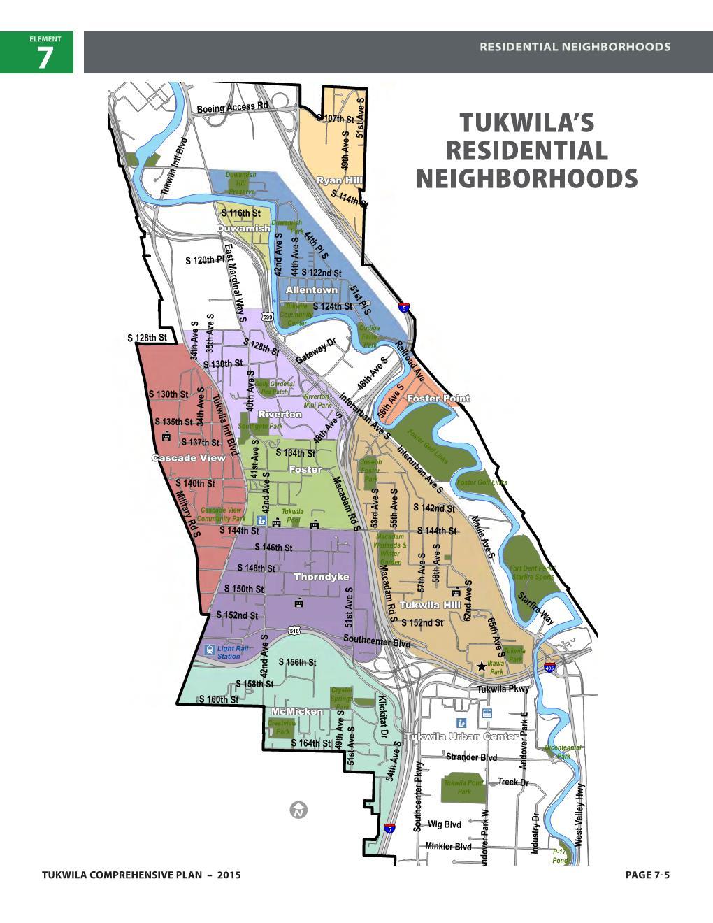 Tukwila Residential Neighborhoods